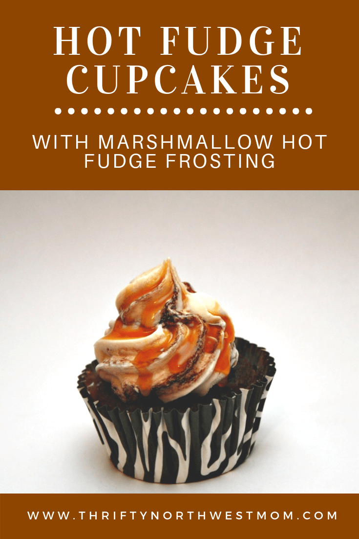 Hot Fudge Cupcakes with Hot Fudge Marshmallow Frosting