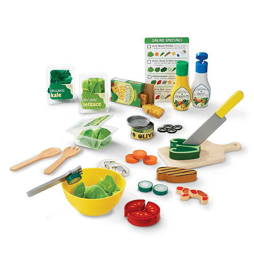Melissa & Doug Slice & Toss Salad Play Food Set