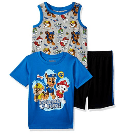 Nickelodeon Boys' Paw Patrol 3 Piece Short Set