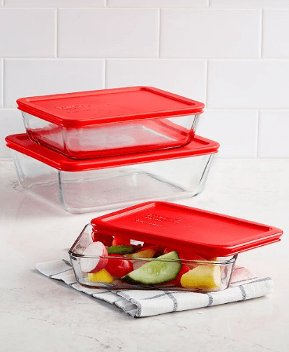 Pyrex Rectangular Storage Set