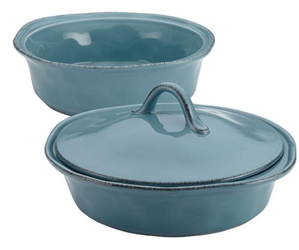 Rachael Ray Cucina Stoneware 3-Piece Round Casserole & Lid Set