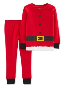 Carter's Baby Boys Red Santa Suit Cotton Pajamas
