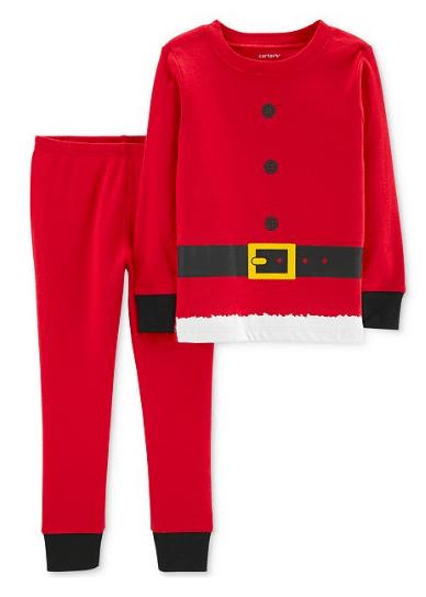 Carter's Baby Boys Red Santa Suit Cotton Pajamas $6.99 (Reg $20)