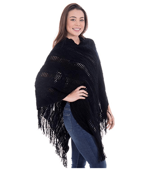 Cozy Knitted Pullover Sweater Wrap