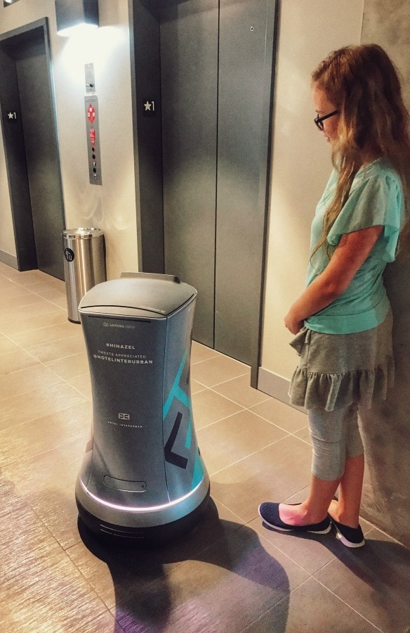 Hazel the Hotel Robot by Elevator
