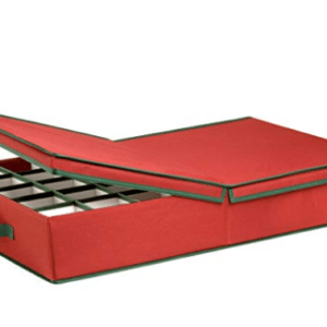 Honey-Can-Do Ornament Storage Box with Dividers