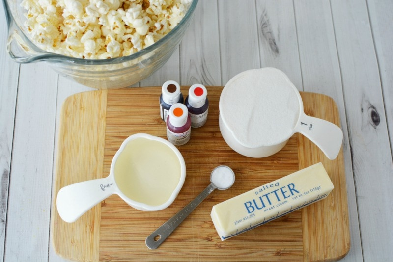 Ingredients for Candied Popcorn recipe