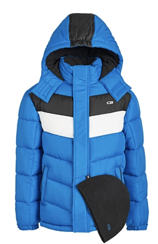 Boys Colorblock Puffer Coats
