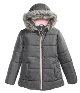 Big Girls Hooded Puffer Jacket