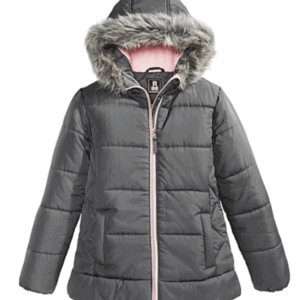 Big Girls Hooded Puffer Jacket