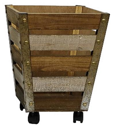 Wheeled Wooden Basket $46.23 (Reg $69)
