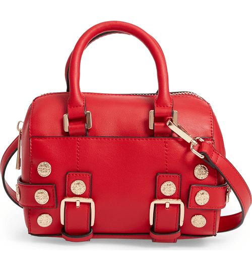 Bianca Studded Faux Leather Bowler Bag $23.98 (Reg $48)