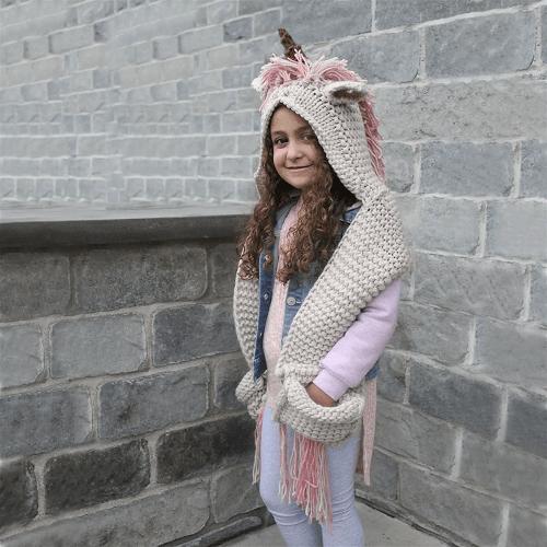 Handmade Hooded Unicorn Scarf $14.99 (Reg $39.99)