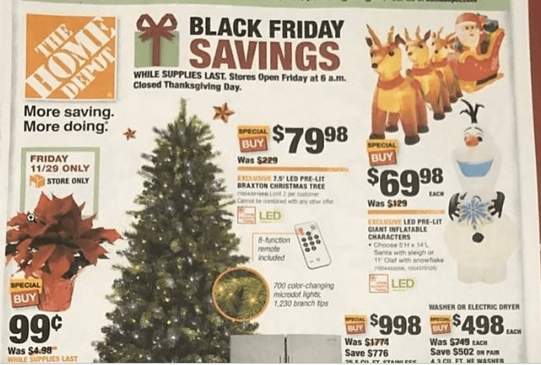 Home Depot Black Friday Deals For 2019 99 Poinsettias