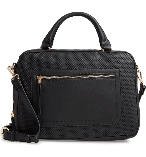 Kaylee Perforated Faux Leather Satchel