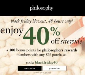 Philosophy Black Friday Sale