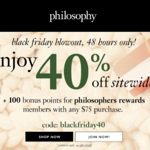 Philosophy Black Friday Sale