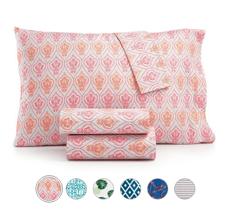 Printed Microfiber Twin 3-Pc Sheet Set