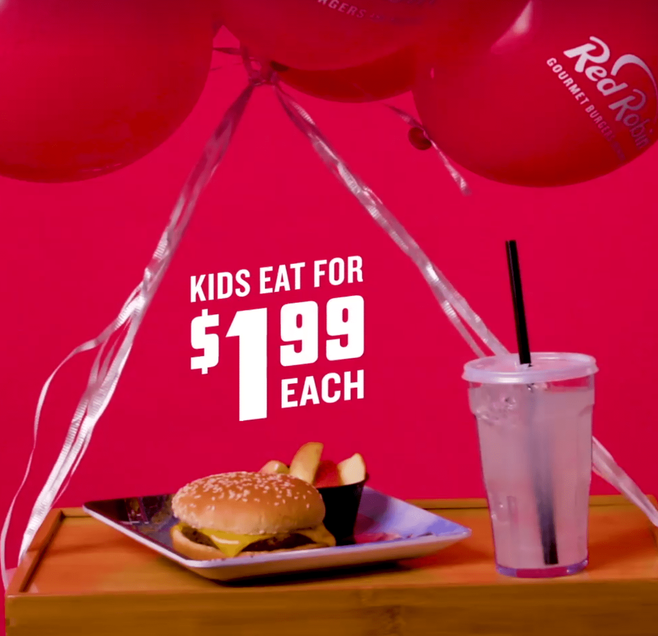 Red Robin Discounts - $1.99 Kids Meals