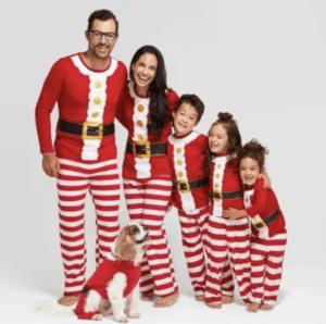 Santa PJs at Target