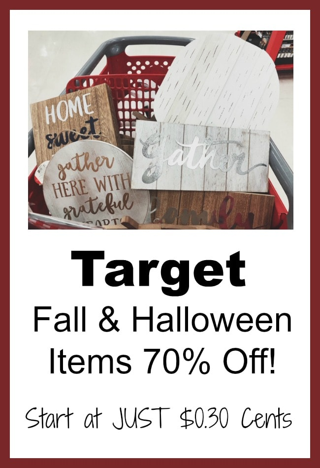 Target Fall Dollar Spot 90% Off ($1 Items as low as $0.10 Cents)!