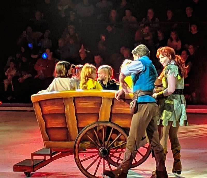 Wagon ride for kids during Disney on Ice