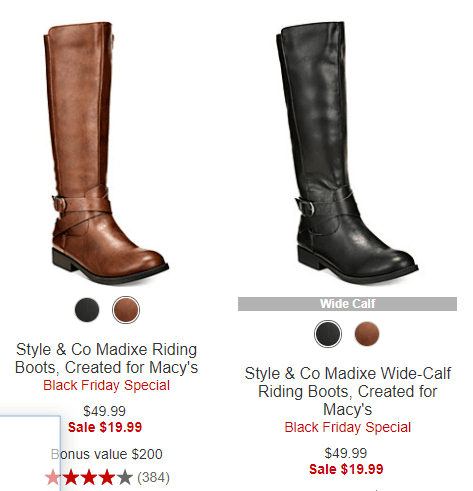 be9644e3ba This Macy's Black Friday Boot Sale is happening now, and there are some  great prices on womens boots, like riding boots for just $19.99 (reg.