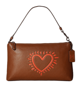 COACH Wristlet - COACH Keith Haring Leather Large Wristlet 25