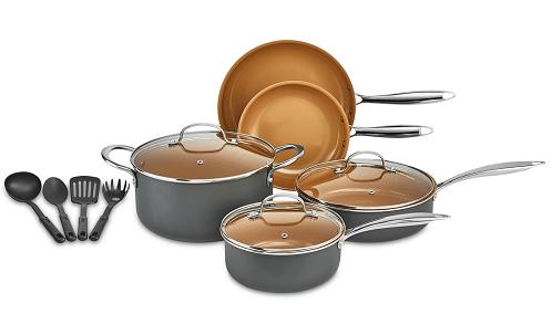 crux 12 pc copper titanium cookware set