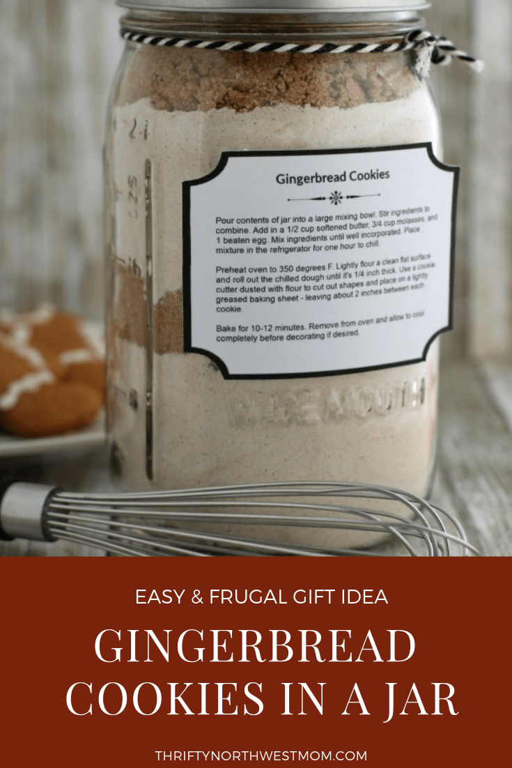 Easy & frugal gift idea of making Gingerbread Cookies in a Jar