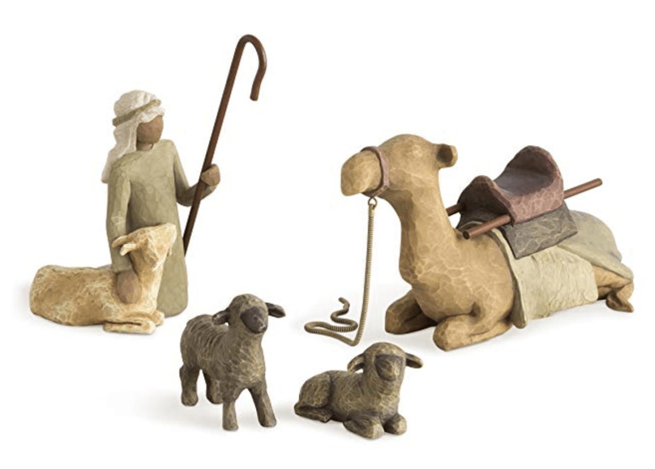 Willow Tree Shepherd & Stable Animals