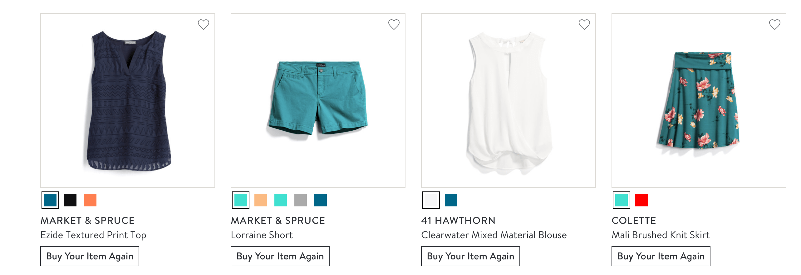 Stitch Fix items in different colors