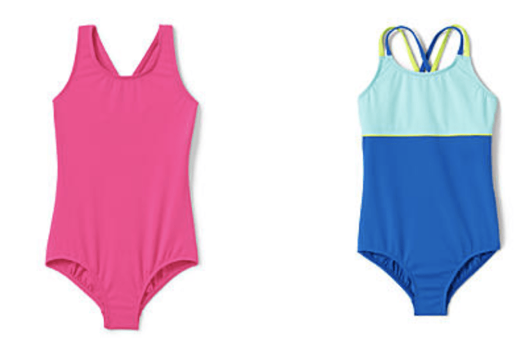 Lands End Girls Swimsuits