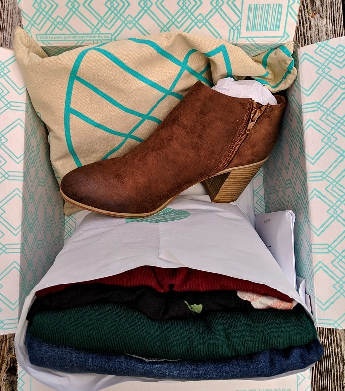 Stitch Fix Fall Box with Boots