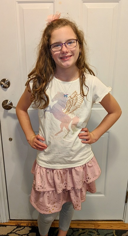 Stitch Fix Clothes for GIrls Pegasus Shirt & Pink Skirt