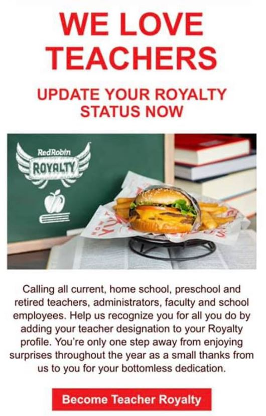 picture relating to Red Robin Printable Coupons named Crimson Robin Cost savings - $5 Burger With Bottomless Fries Nowadays