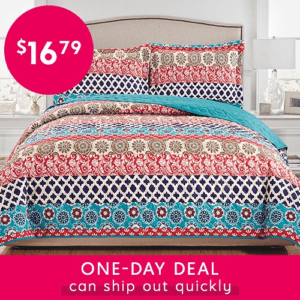 3-Piece Printed Quilt Set