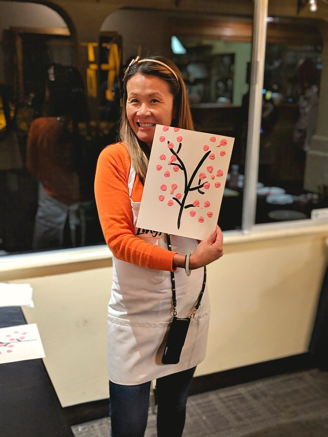 Cherry Blossom Painting with Chef Katie Chin