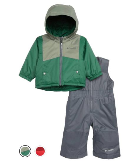 Columbia Double Flake Waterproof Insulated Jacket & Bib Snowsuit