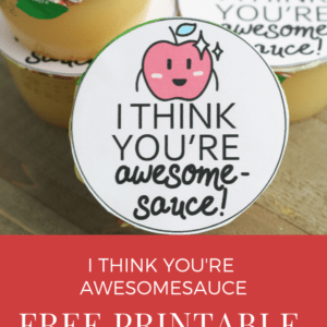 Free Printable Valentine for Applesauce Containers