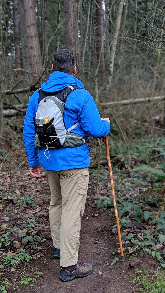 Hiking with a Brazos Walking Stick