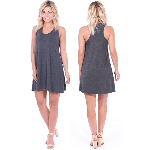 Loose Fit Racer Back Tank Casual Dress