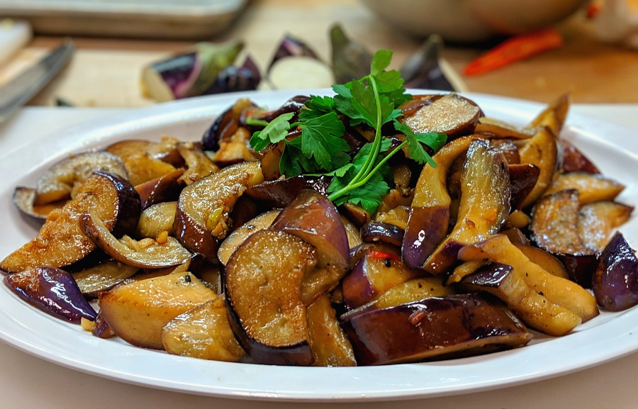Spicy Garlic Asian Eggplant Recipe