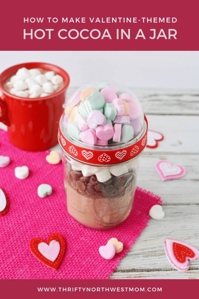 Valentine Hot Cocoa Mix in a Jar – Affordable & Unique Valentine's Gift!