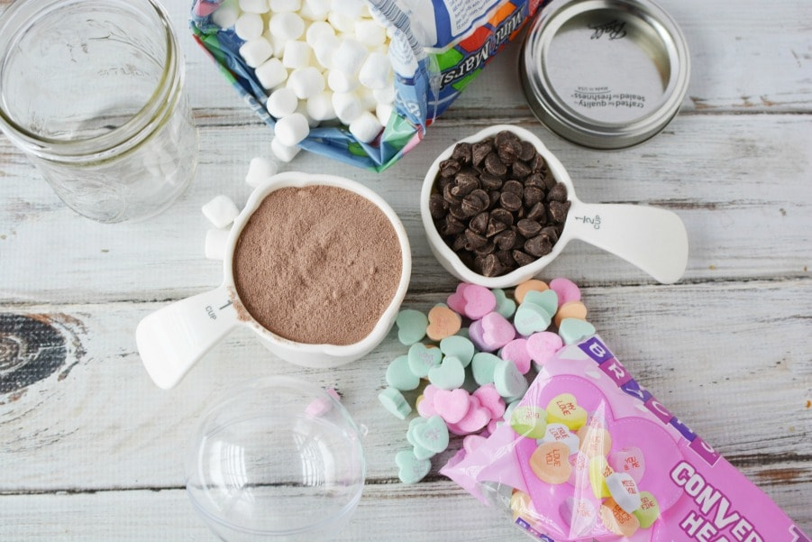 Ingredients for Valentine Cocoa