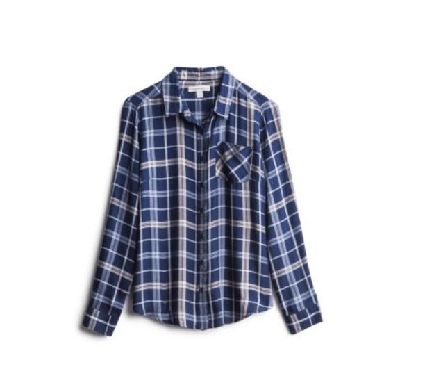 Stitch Fix Blue Plaid Shirt