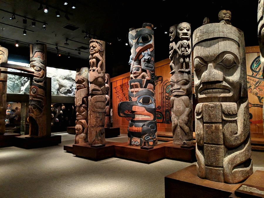Totem Poles Exhibit at the Royal BC Museum