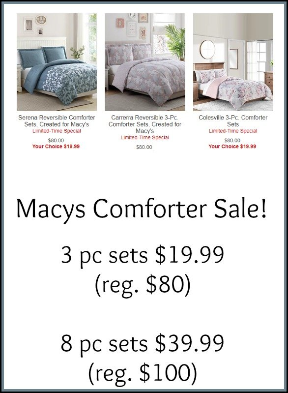 Macys Bedding Sale - Reversible Comforter Sets - $19.99 (Reg ...