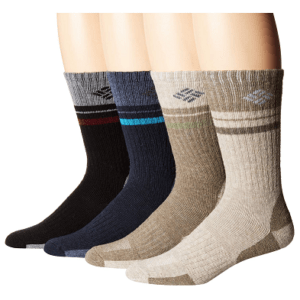 Columbia Pop Stripe Wool Crew Socks 4-Pack