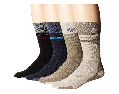 Columbia Pop Stripe Wool Crew Socks 4-Pack